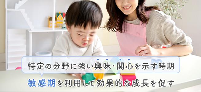 子どもの成長過程における「敏感期」