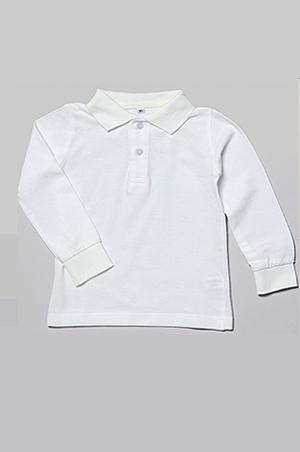 お子様用長袖ポロシャツ