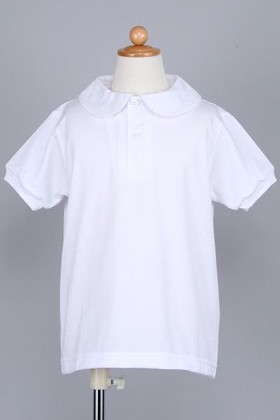 丸衿半袖ポロシャツ