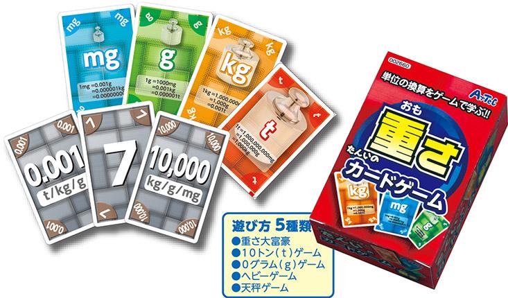 単位のカードゲーム「重さ」