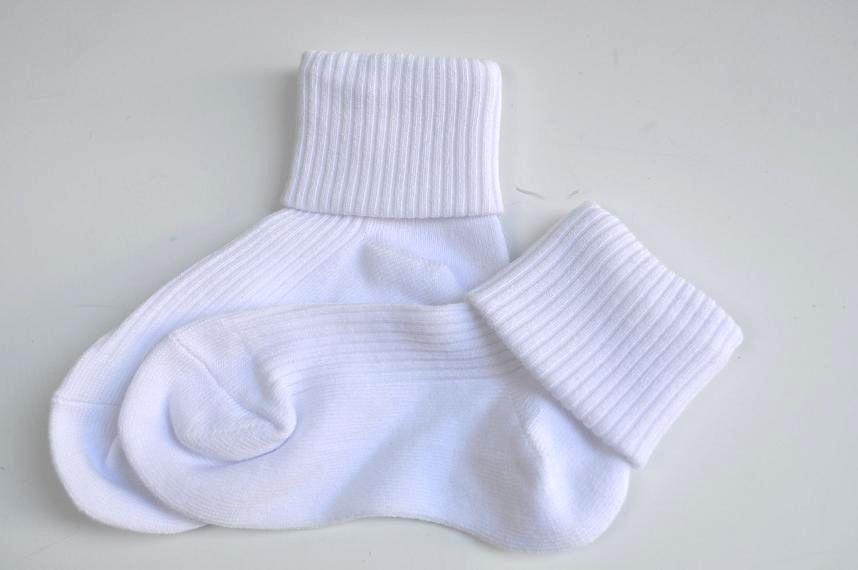 長持ち三つ折ソックス リブ編みタイプ 日本製