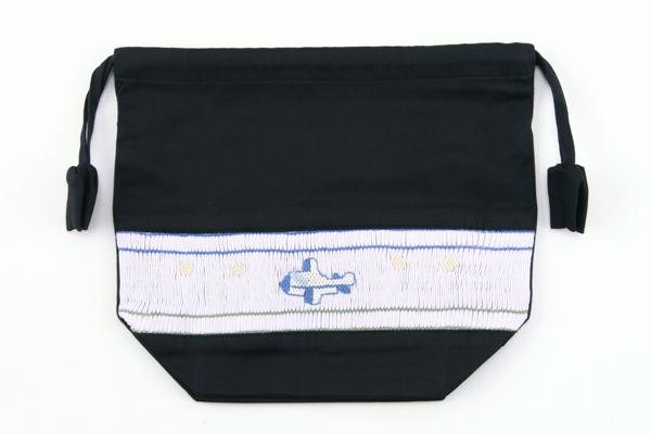スモッキング手刺繍弁当袋