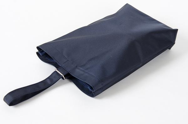 紺色ナイロン製:お子様用シューズバッグ タイプB