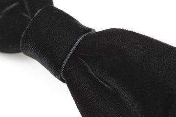 お受験ヘア ベルベットヘアバレッタ 黒と濃紺の2色展開 完全日本製 百貨店品質[ribonTB077]