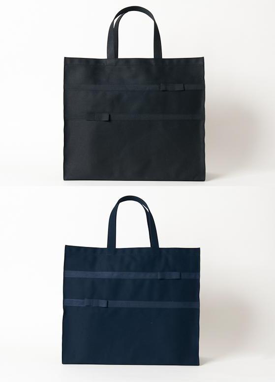 完全自立型リボンサブバッグ【紺】【黒】