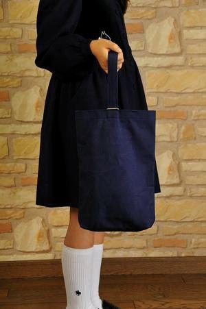 紺色布製シューズバッグ