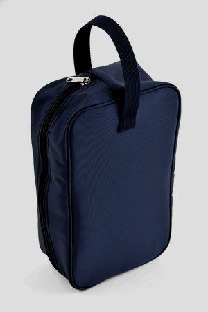 紺色ナイロン製シューズバッグ