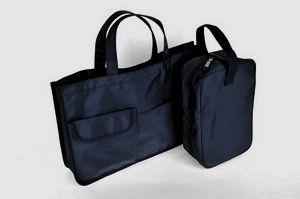紺色ナイロン製・レッスンバッグ
