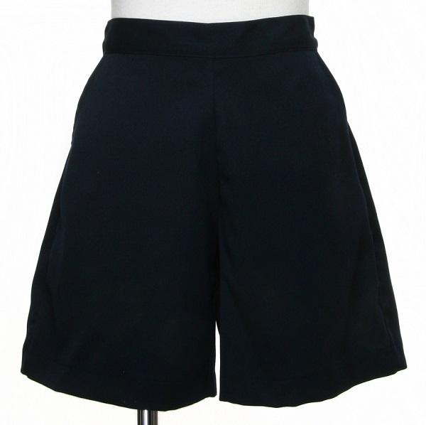 日本製 両サイドポケット付きキュロットパンツ(紺)